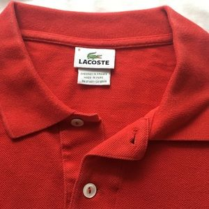 Men's red Lacoste polo